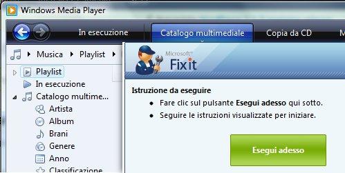 Ripristinare Windows Media Player