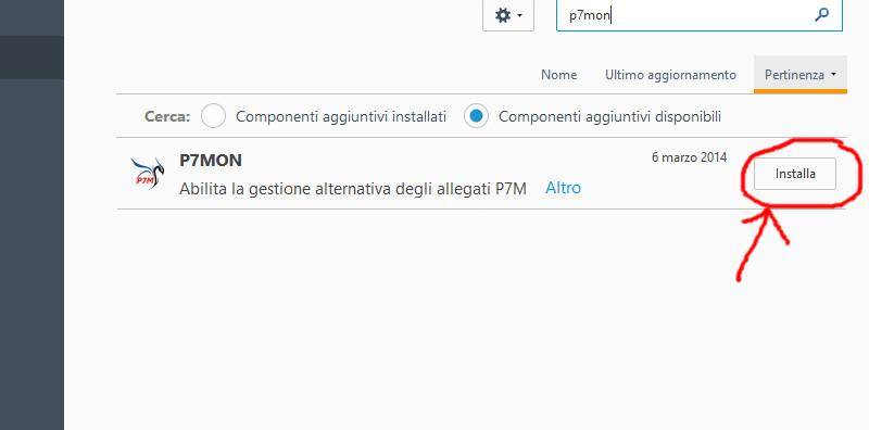 Installazione estensione p7mon