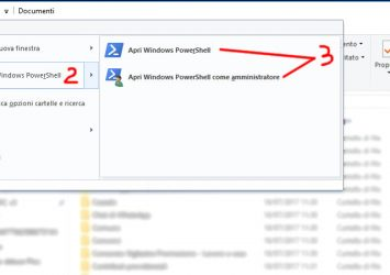 Aprire PowerShell in una cartella specifica di Windows