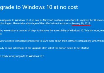 La pagina che mostra la nuova data limite per aggiornare gratuitamente a Windows 10
