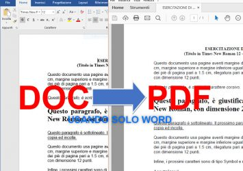 Convertire un file di Word in PDF