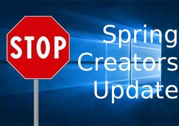 Bug ferma il rilascio di Spring Creators Update