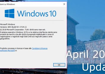 Le novità di Windows 10 April 2018 Update