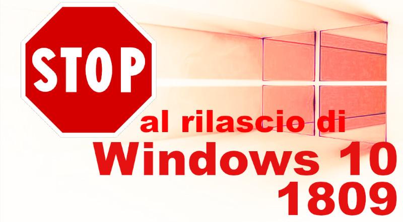 Sospeso il rilascio di Windows 10 1809