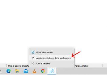 Bloccare l'app sulla barra delle applicazioni