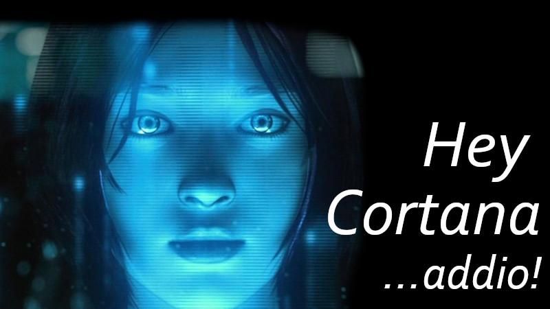 Addio a Cortana su Windows